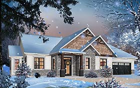 Country , Craftsman , Farmhouse House Plan 76488 with 3 Beds, 2 Baths, 2 Car Garage Elevation