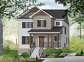 Modern , Craftsman , Contemporary House Plan 76496 with 3 Beds, 2 Baths Elevation