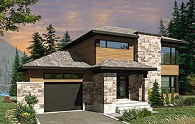Contemporary Modern House Plan 76497 Elevation