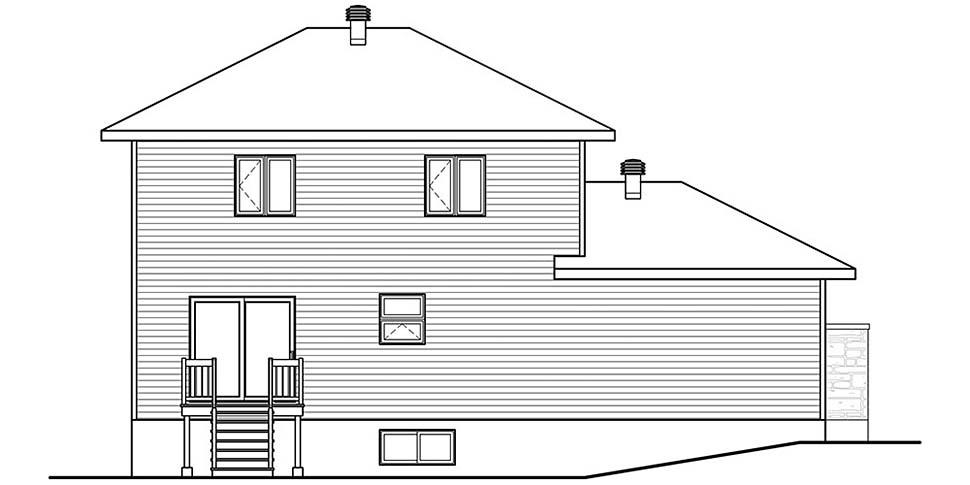 Contemporary Modern House Plan 76497 Rear Elevation