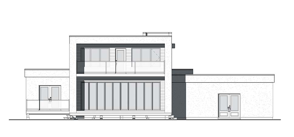 Contemporary Modern House Plan 76499 Rear Elevation