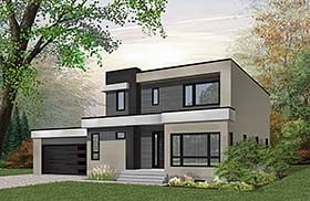 Contemporary Modern House Plan 76500 Elevation
