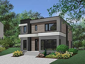 Contemporary , Modern House Plan 76501 with 3 Beds, 3 Baths Elevation