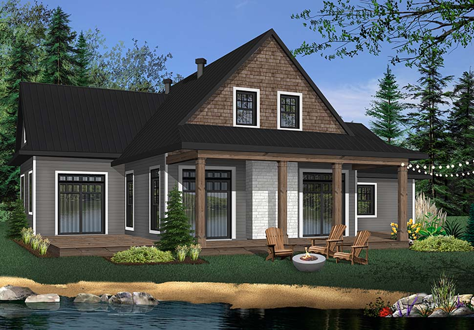 Cabin, Cottage, Country House Plan 76505 with 3 Beds, 3 Baths, 2 Car Garage Picture 1