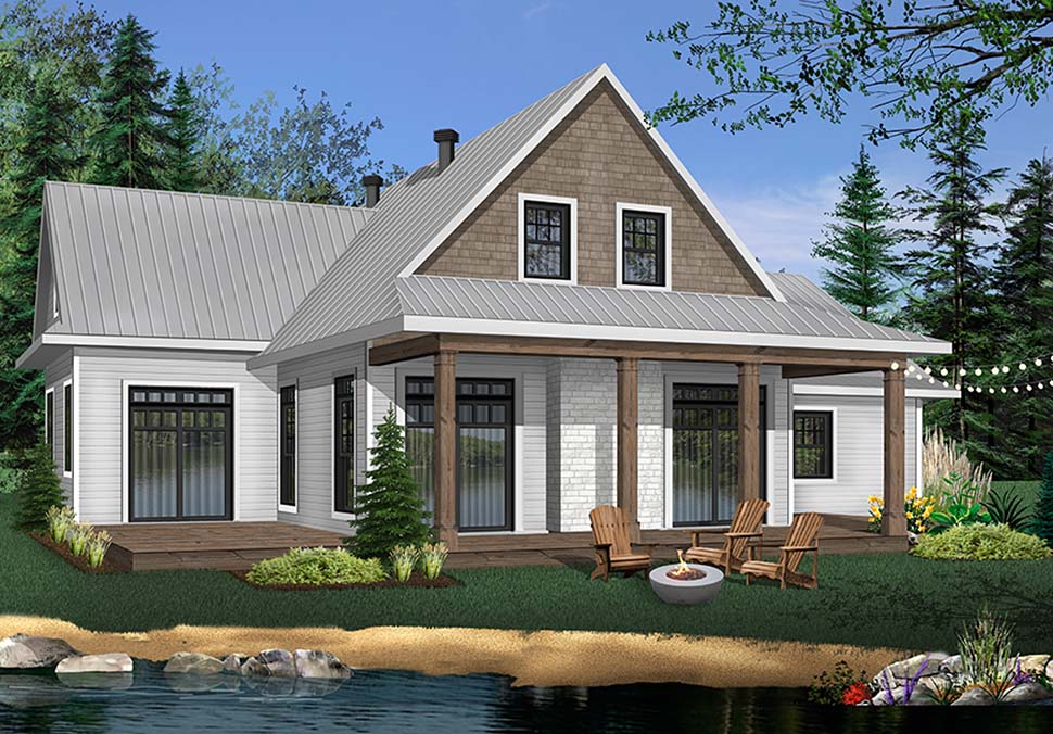 Cabin, Cottage, Country House Plan 76505 with 3 Beds, 3 Baths, 2 Car Garage Picture 2