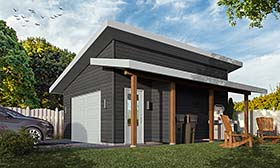 Contemporary Craftsman Modern Garage Plan 76506 Elevation