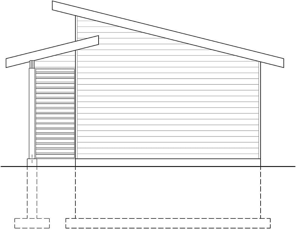 Modern , Craftsman , Contemporary 1 Car Garage Plan 76506 Rear Elevation