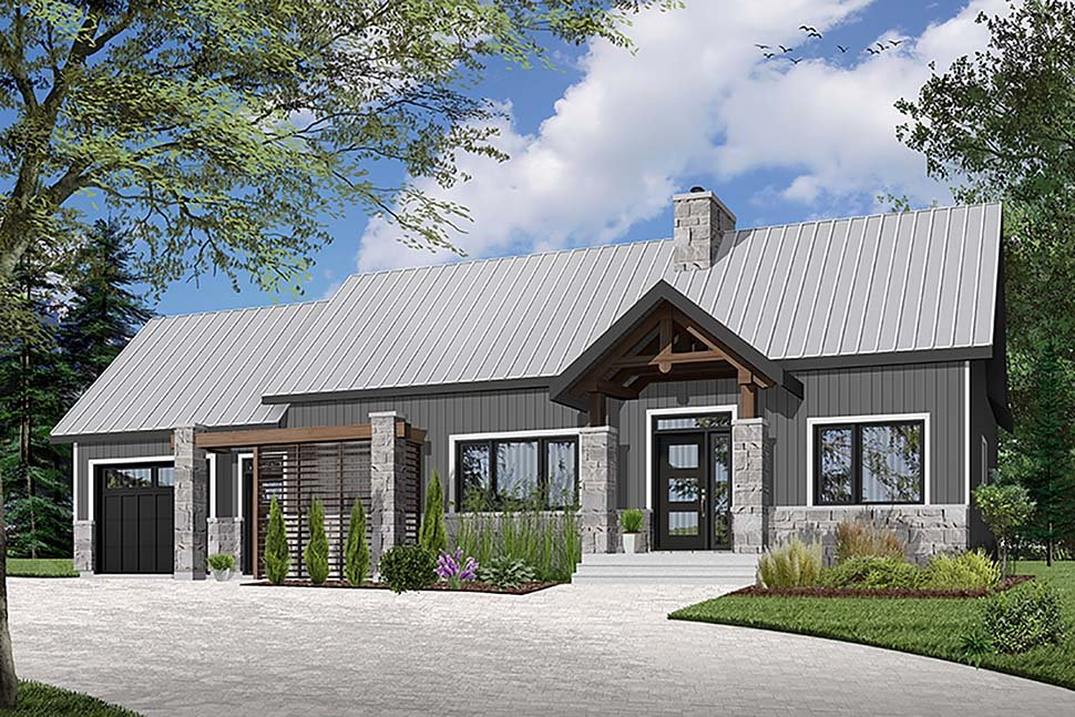 Cape Cod Cottage Country Craftsman Farmhouse Elevation of Plan 76509