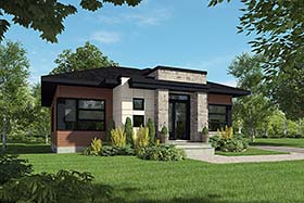 Contemporary Modern House Plan 76514 Elevation