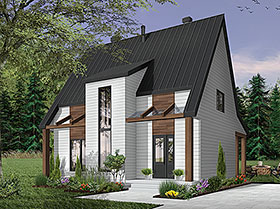 Contemporary Cottage Modern House Plan 76519 Elevation