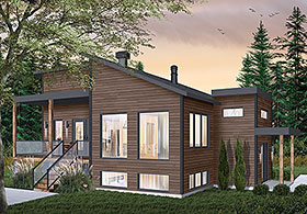 Contemporary Cottage Country Modern Ranch House Plan 76520 Elevation