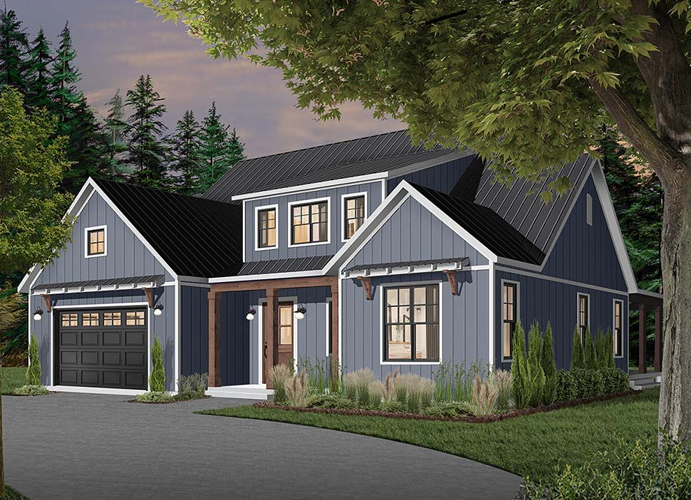 Cape Cod, Country, Craftsman, Farmhouse, Ranch Plan with 3354 Sq. Ft., 4 Bedrooms, 4 Bathrooms, 3 Car Garage Picture 4