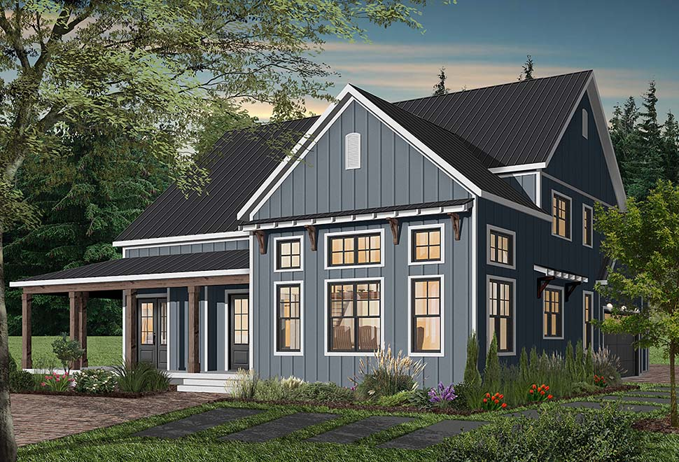 Cape Cod, Country, Craftsman, Farmhouse, Ranch Plan with 3354 Sq. Ft., 4 Bedrooms, 4 Bathrooms, 3 Car Garage Picture 5