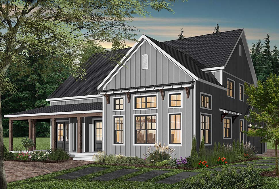 Cape Cod, Country, Craftsman, Farmhouse, Ranch Plan with 3354 Sq. Ft., 4 Bedrooms, 4 Bathrooms, 3 Car Garage Picture 7