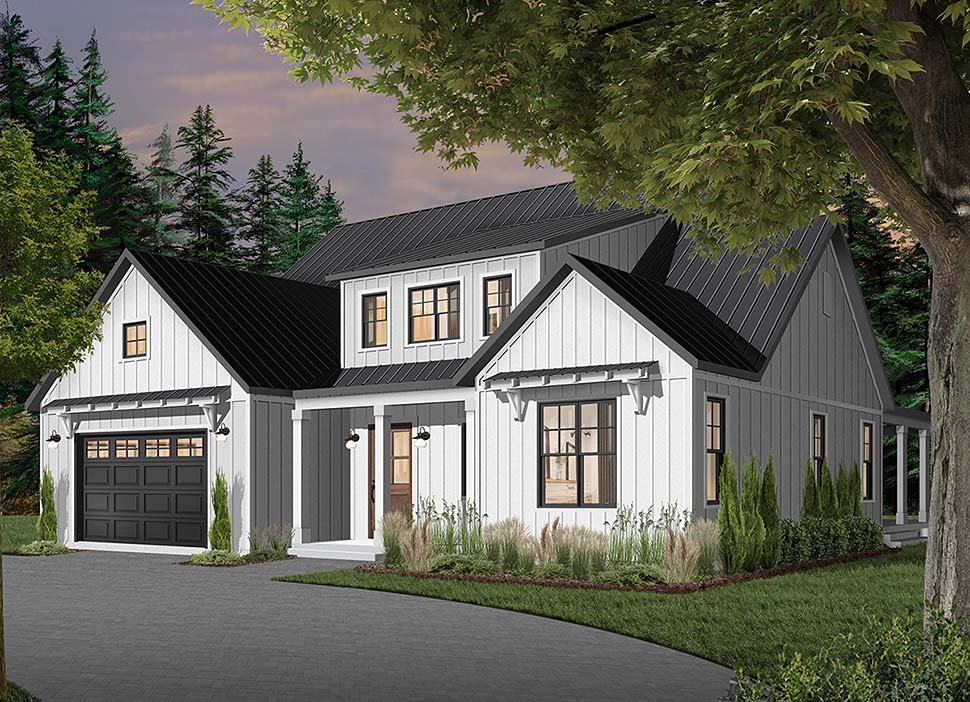 Cape Cod, Country, Craftsman, Farmhouse, Ranch Plan with 3354 Sq. Ft., 4 Bedrooms, 4 Bathrooms, 3 Car Garage Picture 8