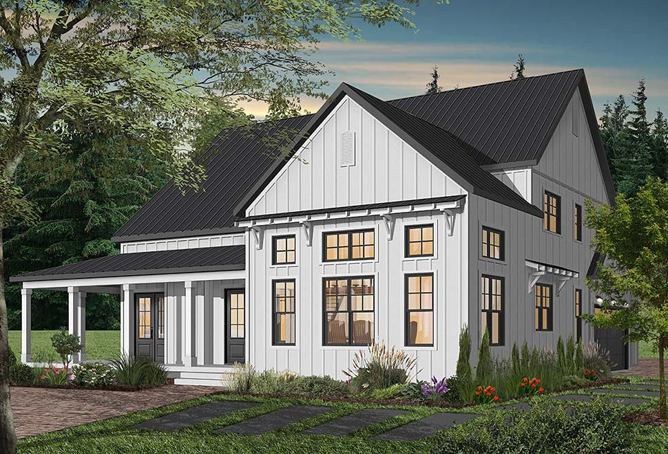 Cape Cod, Country, Craftsman, Farmhouse, Ranch Plan with 3354 Sq. Ft., 4 Bedrooms, 4 Bathrooms, 3 Car Garage Picture 9