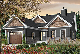 Modern , Farmhouse , Craftsman , Country House Plan 76522 with 2 Beds, 2 Baths, 1 Car Garage Elevation