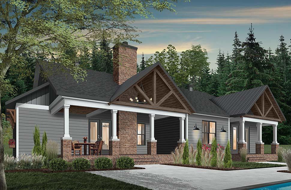 Cottage, Craftsman, Farmhouse House Plan 76523 with 3 Beds, 3 Baths, 2 Car Garage Picture 2