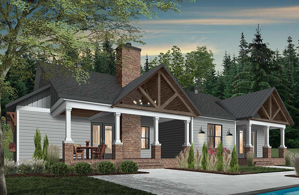 Cottage, Craftsman, Farmhouse House Plan 76523 with 3 Beds, 3 Baths, 2 Car Garage Picture 4