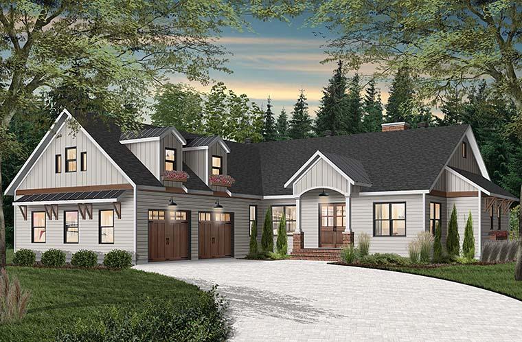 Cottage, Craftsman, Farmhouse House Plan 76523 with 3 Beds, 3 Baths, 2 Car Garage Picture 5