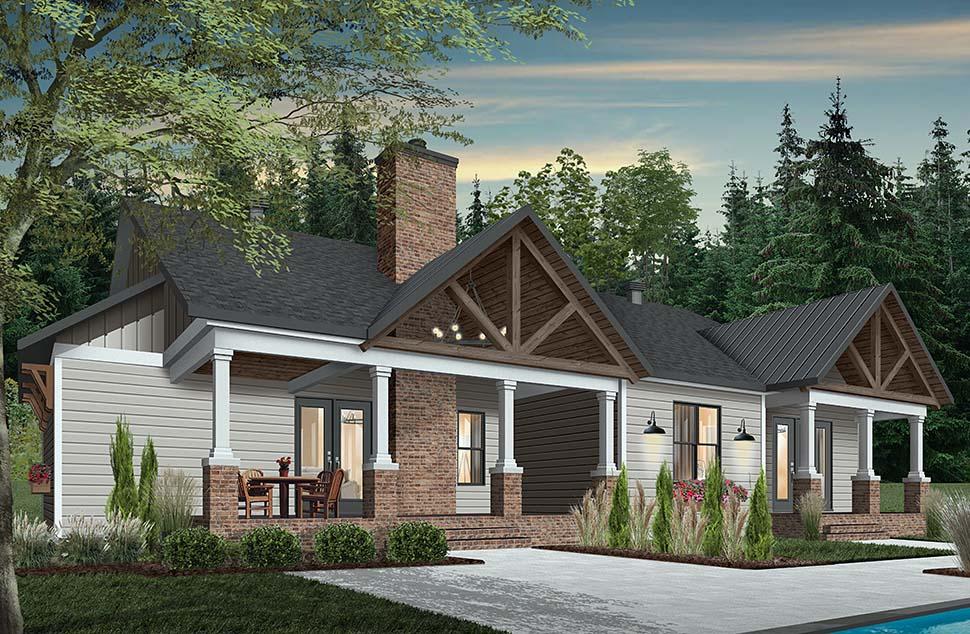Cottage, Craftsman, Farmhouse House Plan 76523 with 3 Beds, 3 Baths, 2 Car Garage Picture 6