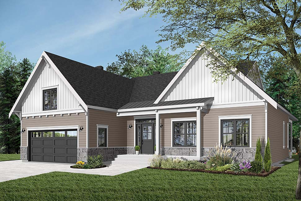 Bungalow House Plan 76524 with 2 Beds, 2 Baths, 2 Car Garage Picture 1
