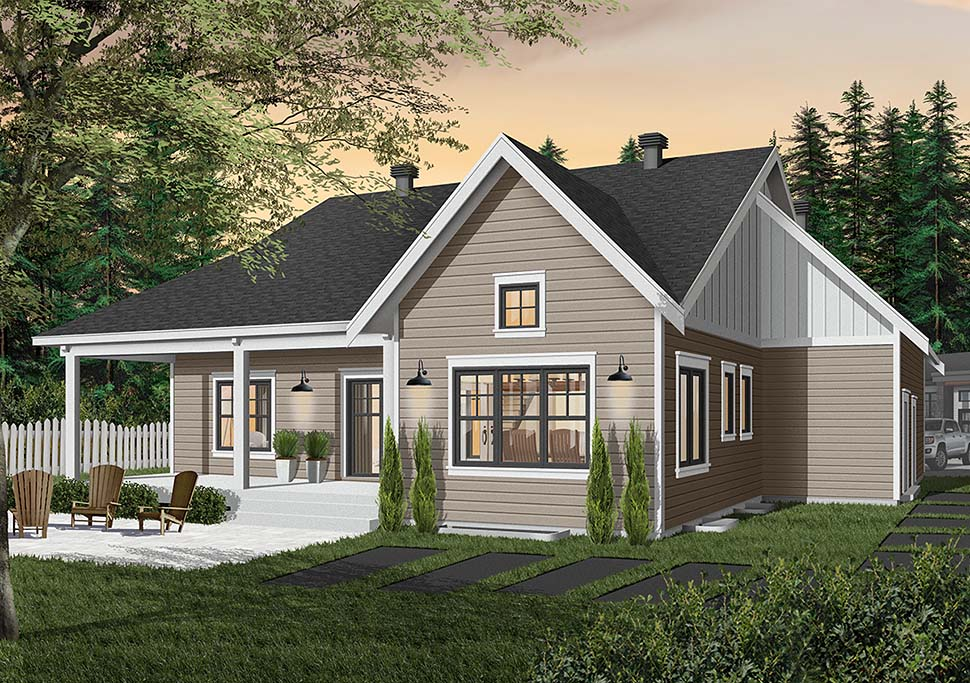 Bungalow House Plan 76524 with 2 Beds, 2 Baths, 2 Car Garage Picture 2