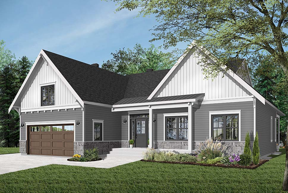 Bungalow House Plan 76524 with 2 Beds, 2 Baths, 2 Car Garage Picture 3