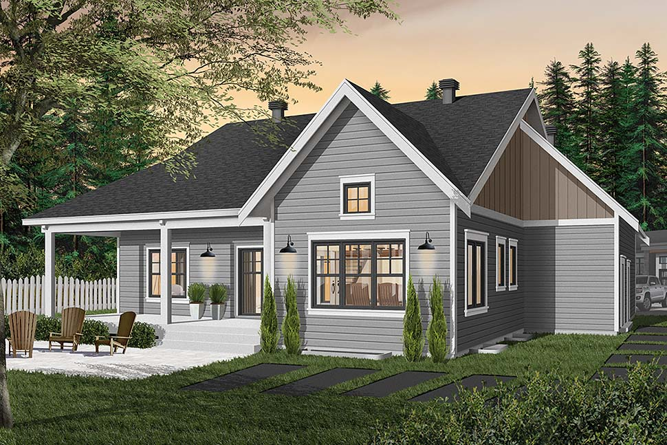 Bungalow House Plan 76524 with 2 Beds, 2 Baths, 2 Car Garage Picture 4