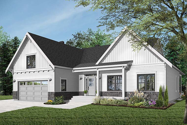 Bungalow House Plan 76524 with 2 Beds, 2 Baths, 2 Car Garage Picture 5