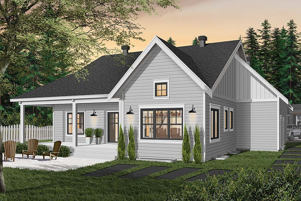 Bungalow House Plan 76524 with 2 Beds, 2 Baths, 2 Car Garage Picture 6