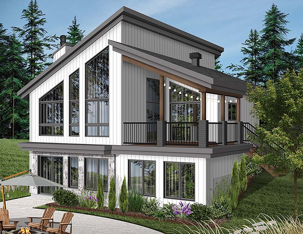 Contemporary, Cottage, Modern House Plan 76526 with 3 Beds, 2 Baths Elevation