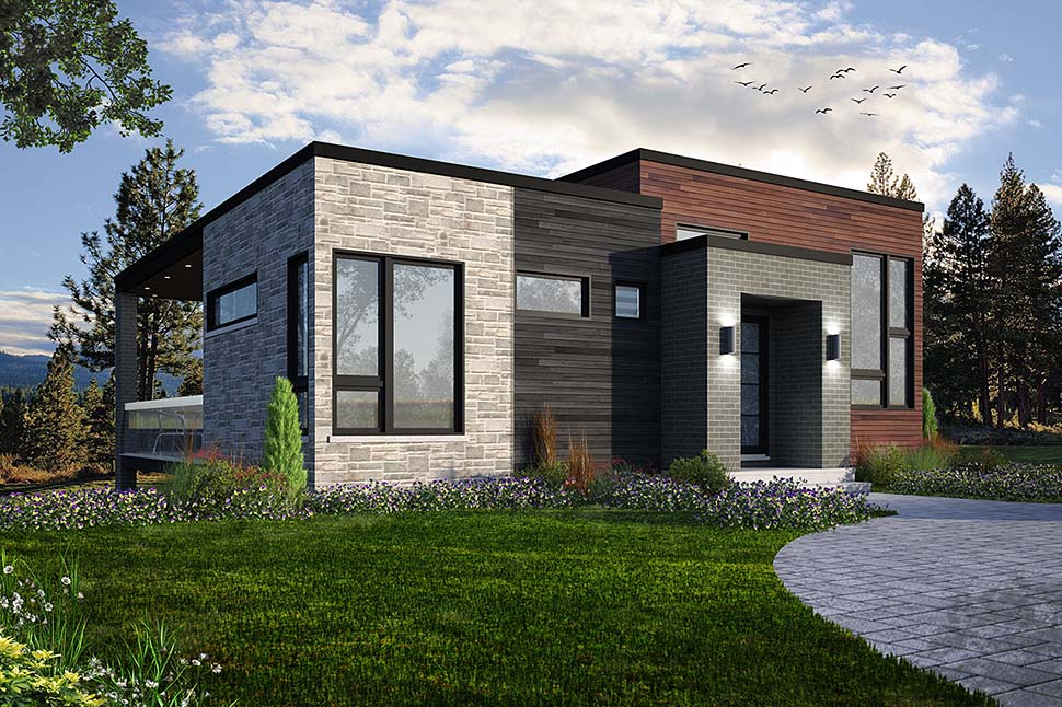 Contemporary, Cottage, Modern House Plan 76529 with 2 Beds, 1 Baths Picture 1