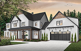 House Plan 76530 | Country Farmhouse Traditional Style Plan with 3532 Sq Ft, 5 Bedrooms, 4 Bathrooms, 2 Car Garage Elevation