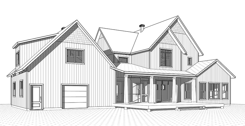 Country, Farmhouse, Traditional House Plan 76530 with 5 Beds, 4 Baths, 2 Car Garage Picture 1
