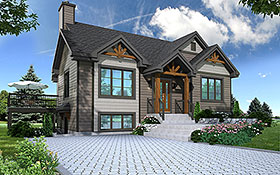 House Plan 76533 | Country Craftsman Style Plan with 2134 Sq Ft, 3 Bedrooms, 2 Bathrooms Elevation