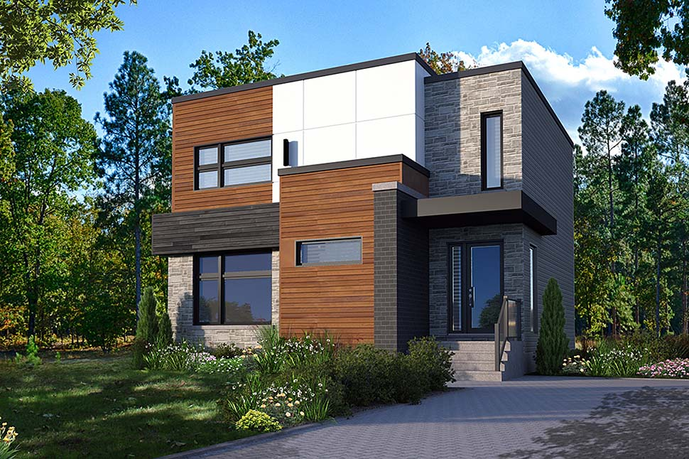 Contemporary, Modern House Plan 76537 with 3 Beds , 2 Baths Elevation
