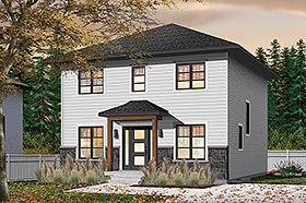 Colonial , Traditional House Plan 76538 with 4 Beds, 2 Baths Elevation