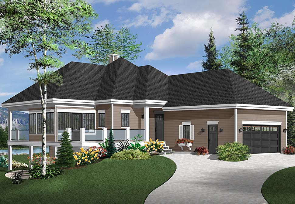 Coastal, European, Traditional House Plan 76541 with 4 Beds, 3 Baths, 2 Car Garage Picture 2