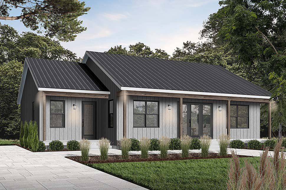 Cottage House Plan 76545 with 2 Beds, 2 Baths Elevation