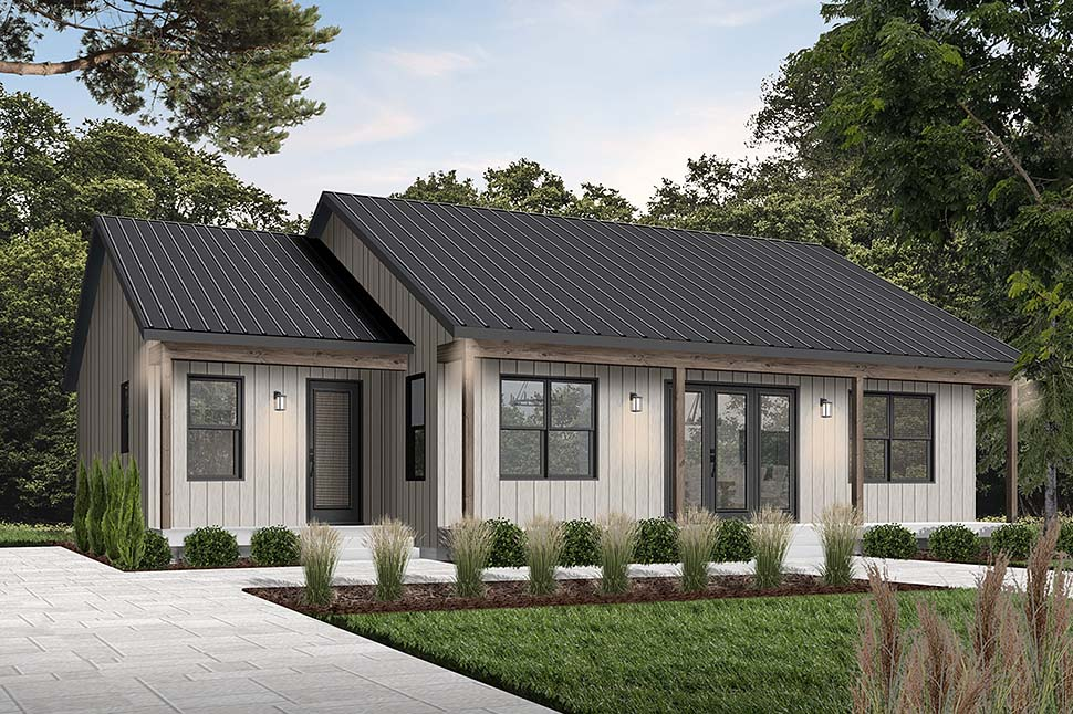 Cottage House Plan 76545 with 2 Beds, 2 Baths Picture 1