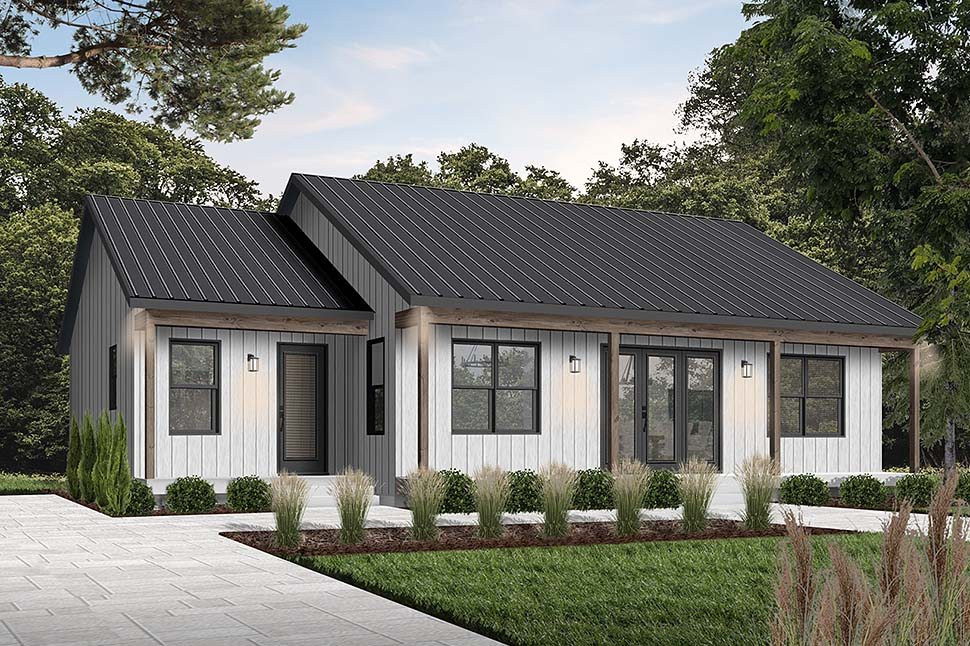 Cottage House Plan 76545 with 2 Beds, 2 Baths Picture 2