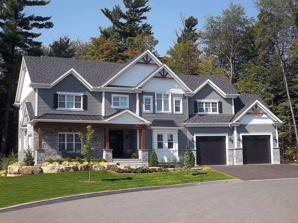 Craftsman, Traditional House Plan 76561 with 4 Beds, 3 Baths, 2 Car Garage Elevation