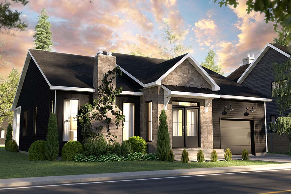 Bungalow, Country, Craftsman, Farmhouse, Ranch House Plan 76568 with 2 Beds, 2 Baths, 1 Car Garage Picture 2