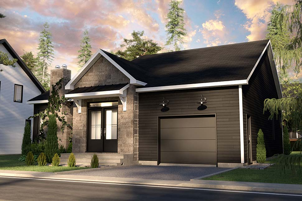 Bungalow, Country, Craftsman, Farmhouse, Ranch House Plan 76568 with 2 Beds, 2 Baths, 1 Car Garage Picture 3