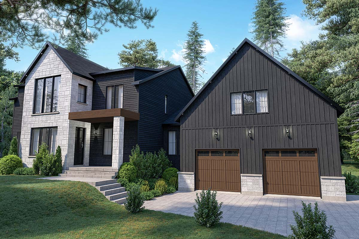 Craftsman, Farmhouse House Plan 76573 with 4 Beds, 3 Baths, 2 Car Garage Elevation