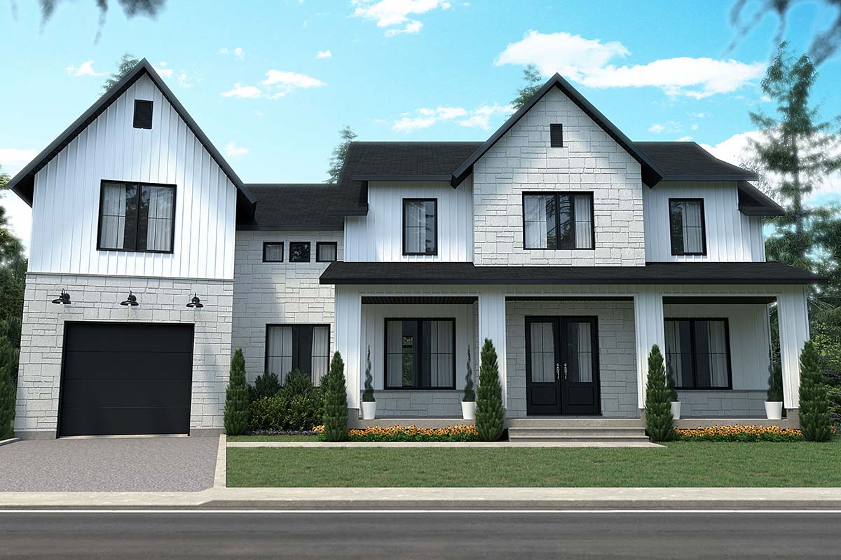Country, Craftsman, Farmhouse House Plan 76574 with 3 Beds, 3 Baths, 1 Car Garage Elevation