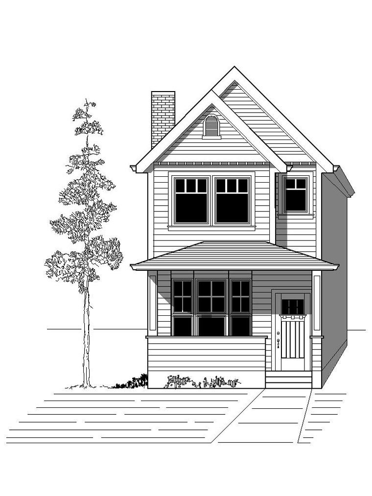 House Plan 76801 Elevation