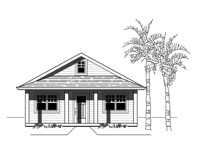 Bungalow, Craftsman, Southern House Plan 76808 with 3 Beds, 2 Baths Elevation