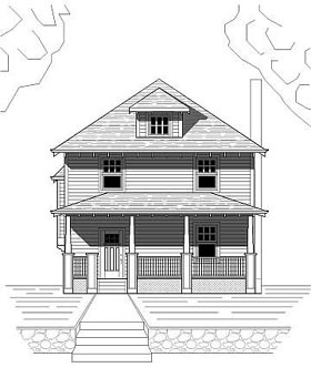 House Plan 76813 | Bungalow Craftsman Style Plan with 1500 Sq Ft, 3 Bedrooms, 3 Bathrooms Elevation